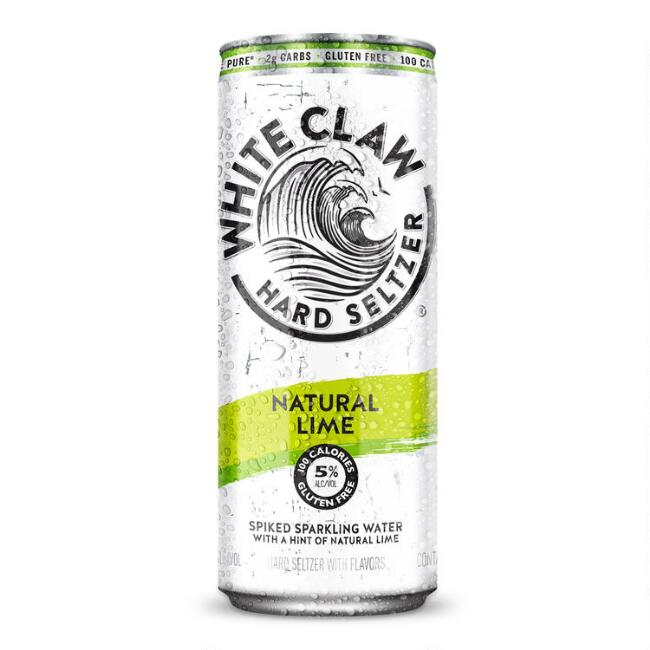 White Claw Lime Hard Seltzer Can