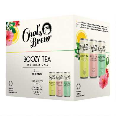 Owl's Brew Boozy Tea and Botanicals Variety 6 Pack