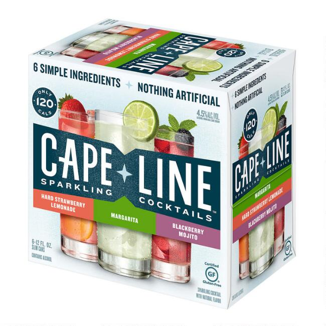 Cape Line Sparkling Cocktail Variety 6 Pack