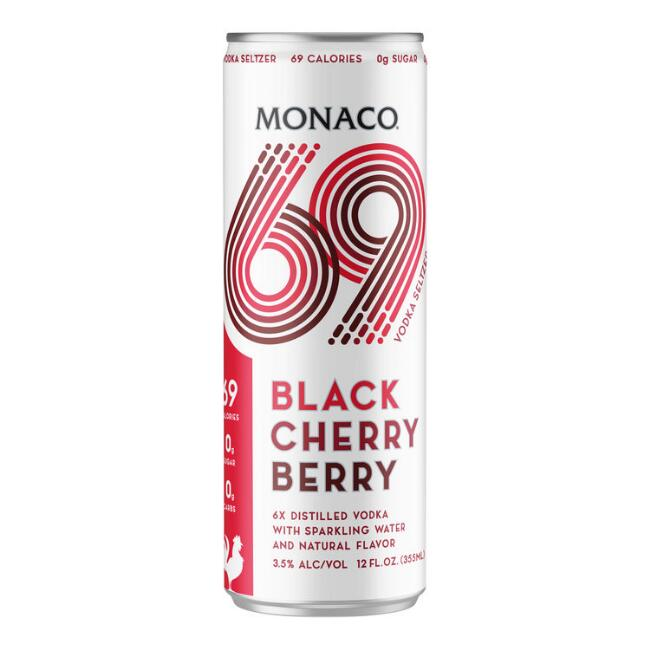 Monaco 69 Black Cherry Berry Hard Seltzer Can