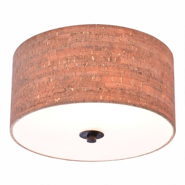 Cork 2 Light Flush Mount Cecil Ceiling Light