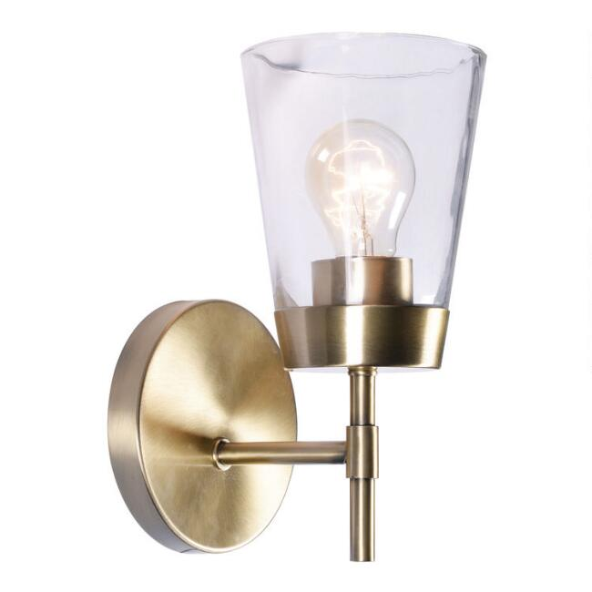 Metal and Glass Colin Wall Sconce