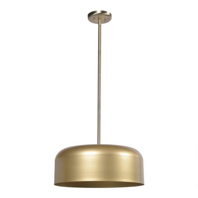 Antique Brass and Gold 2 Light Lloyd Pendant Lamp