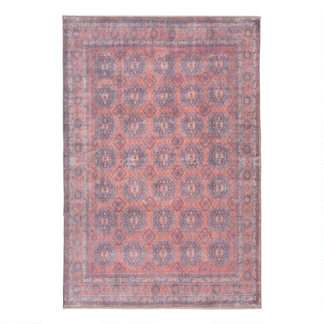 Blue And Red Merrit Area Rug