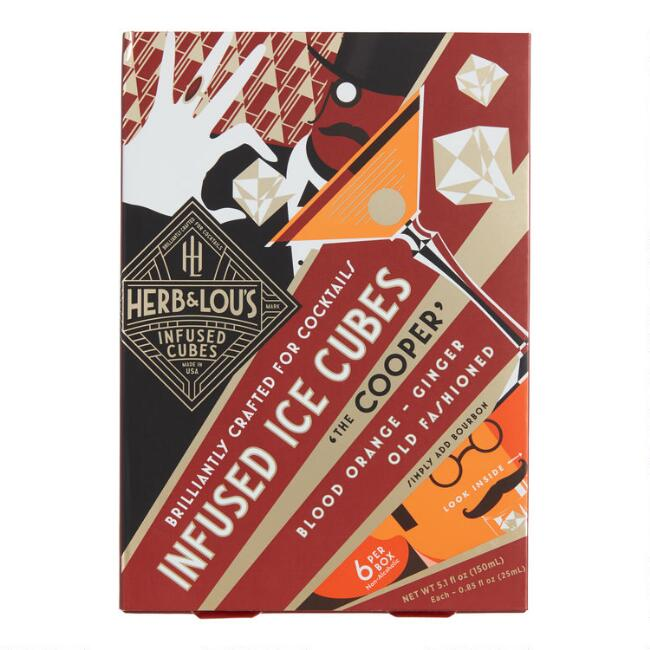 Herb & Lou's Cooper Infused Old Fashioned Ice Cubes 6 Count