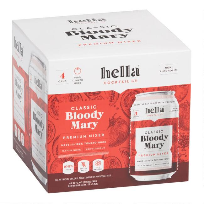 Hella Classic Bloody Mary Mixer Cans 4 Pack