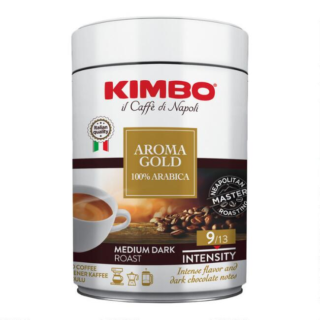 Kimbo Aroma Gold Blend Ground Coffee Tin