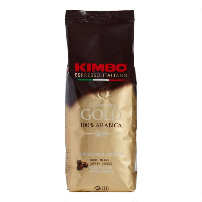 Kimbo Aroma Gold Blend Whole Bean Coffee 1lb