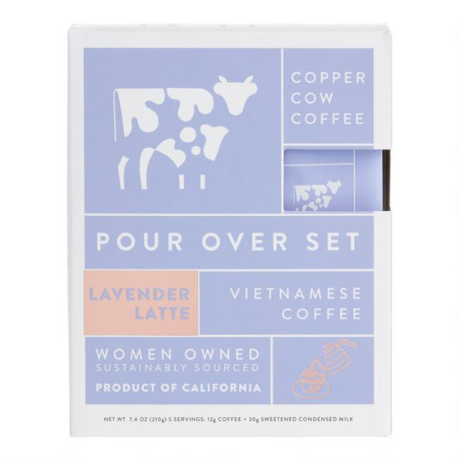 Copper Cow Lavender Latte Vietnamese Coffee 5 Pack
