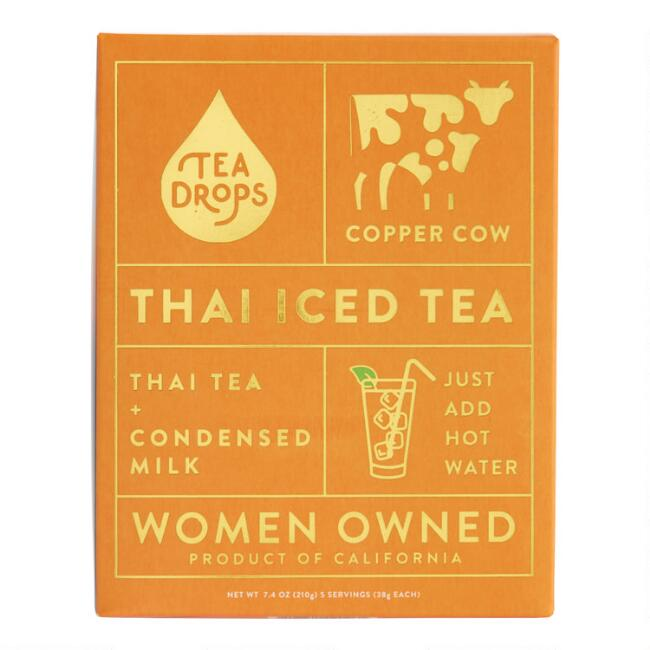 Copper Cow and Tea Drops Thai Iced Tea 5 Pack