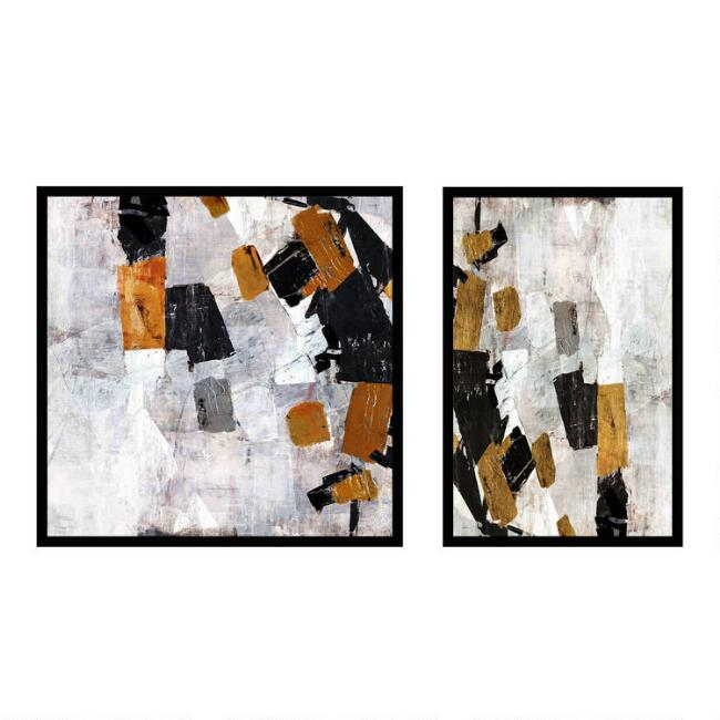 Gray Sky Dive Abstract Framed Canvas Wall Art 2 Piece