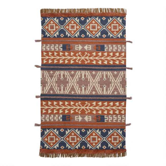 Brick Multicolor Southwestern Bohemian Wool Area Rug World Market