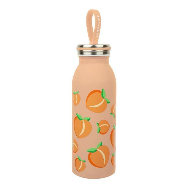 Sunnylife Peaches Insulated Stainless Steel Water Bottle