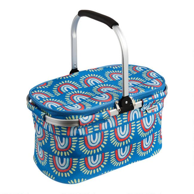 Blue Rainbow Collapsible Insulated Tote Bag