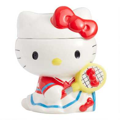 Hello Kitty Sports Ceramic Cookie Jar