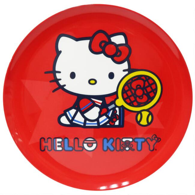 Red Hello Kitty Sports Melamine Plates Set of 6