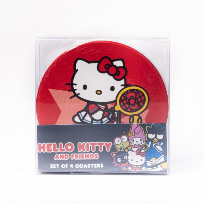 Hello Kitty and Friends Sports Ceramic Coasters 4 Pack