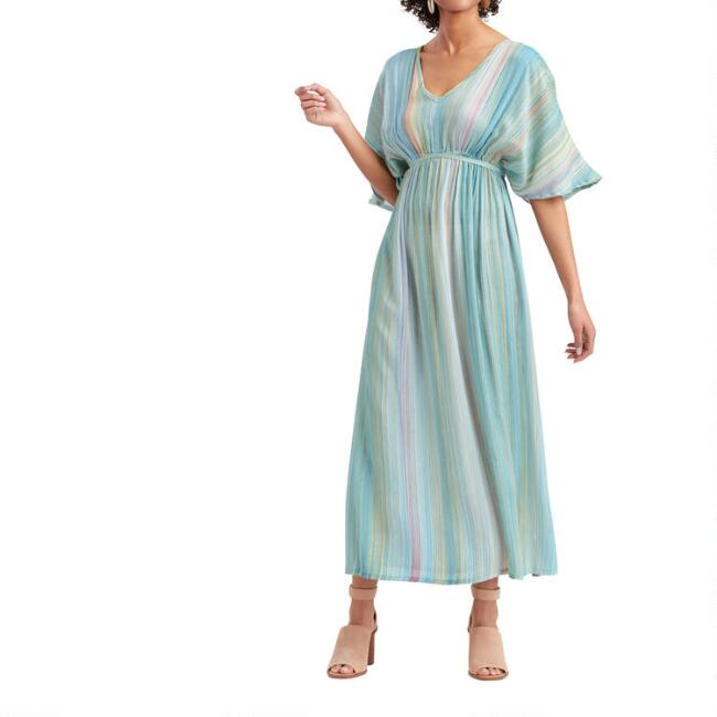 Multicolor Stripe Mirage Mira Kaftan Dress