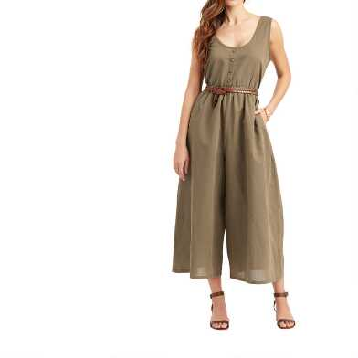Olive Linen Blend 2 Way Milo Jumpsuit
