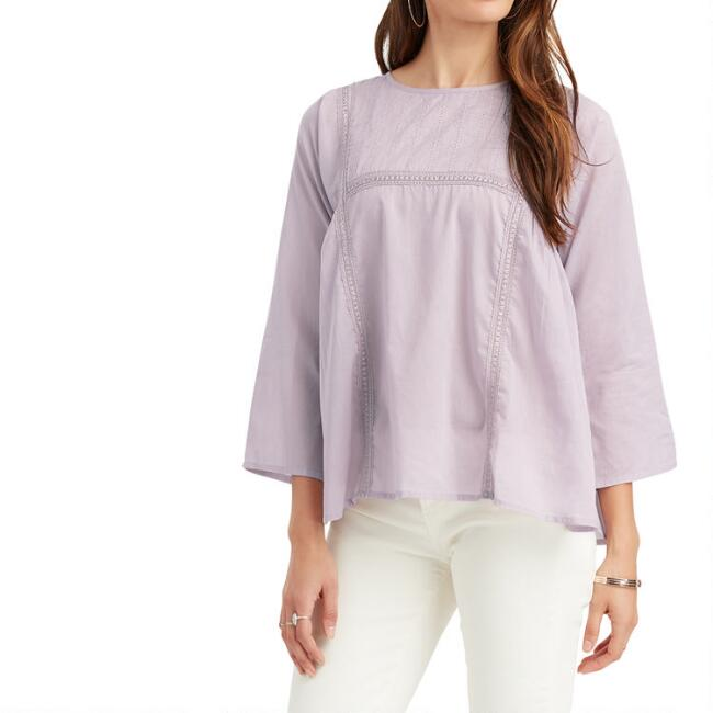 Lavender Lace And Ribbon Audrey Top