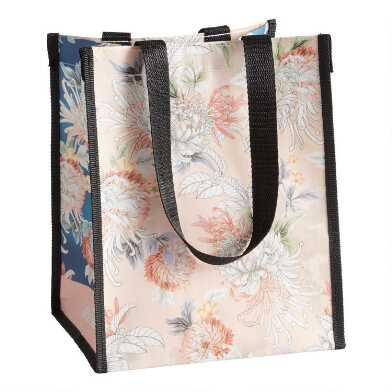 Small Blush Chrysanthemum Tote Bags Set Of 2