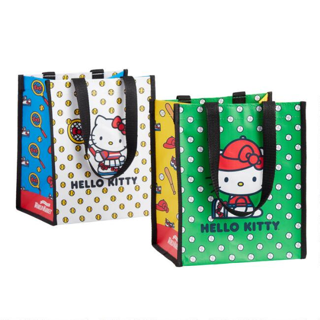 Small Hello Kitty Sports Tote Bags Set Of 2