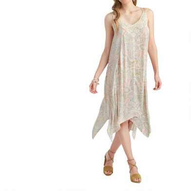 Cream Multicolor Swirl Lace Katie Dress