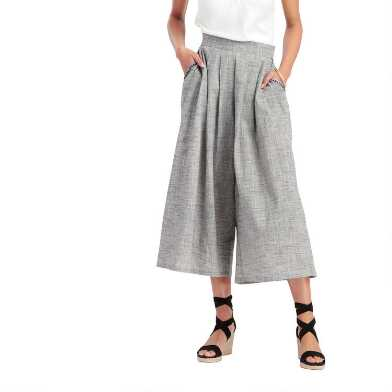 Black And White Bree Culottes with Pockets