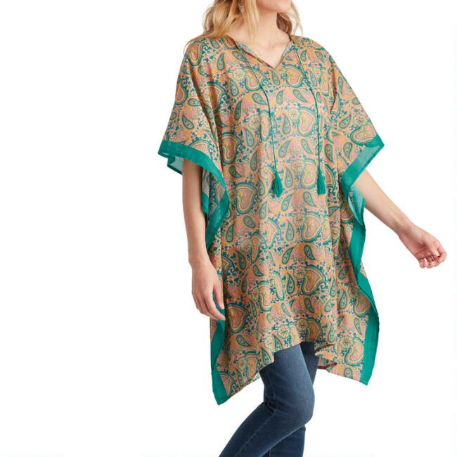 Blush and Teal Paisley Mama and Me Kaftan