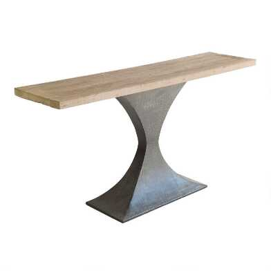 Reclaimed Pine and Metal Samuel Console Table