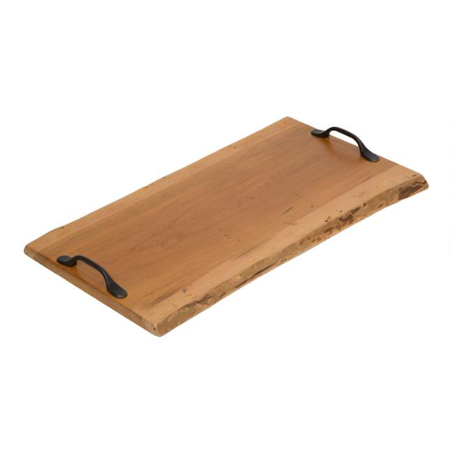 Live Edge Cohen Coffee Table Tray with Handles
