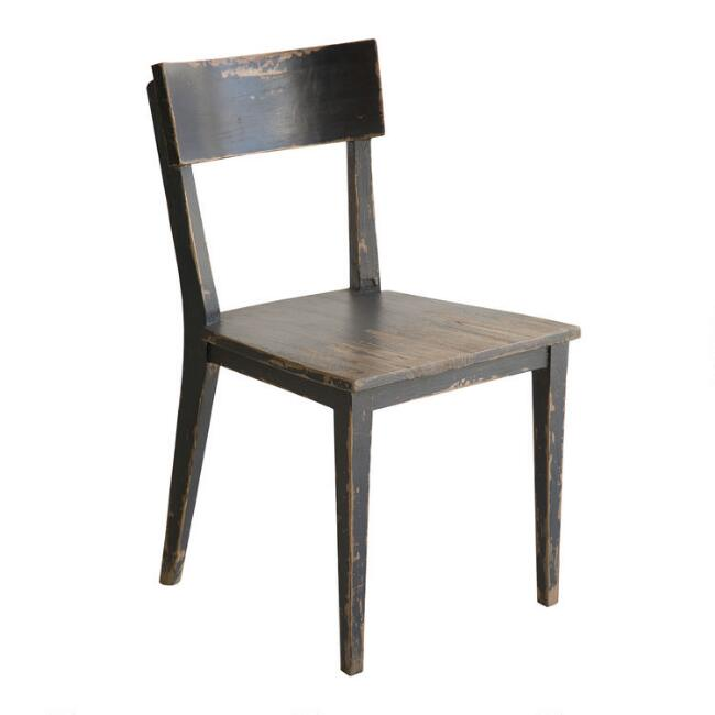 Antiqued Elm Wood Jude Dining Chairs Set of 2
