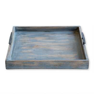 Reclaimed Elm Hatton Coffee Table Tray with Handles