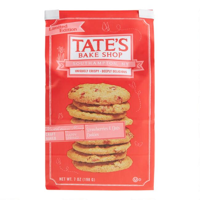 Tate's Strawberries & Oats Cookies