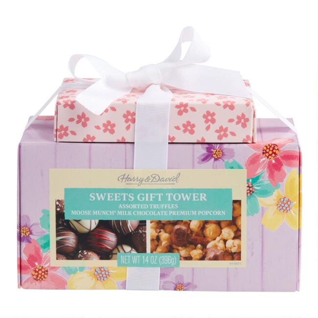 Harry & David Spring Truffle and Moose Munch Treat Tower