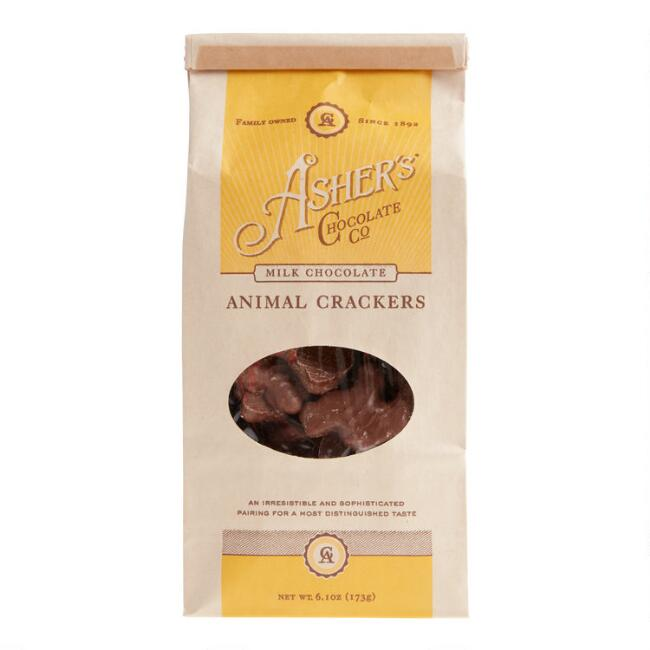 Asher's Milk Chocolate Covered Animal Crackers