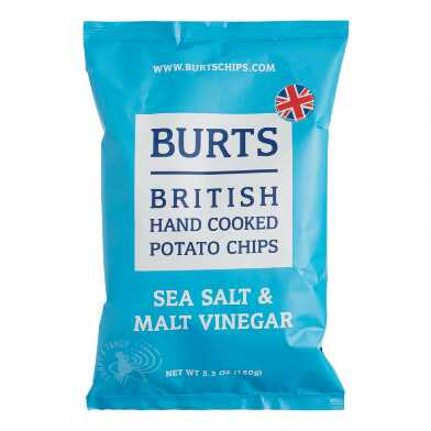 Burts Sea Salt And Malt Vinegar Potato Chips Set of 10