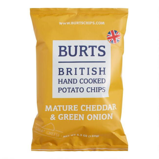Burts Mature Cheddar & Green Onion Potato Chips Set of 10
