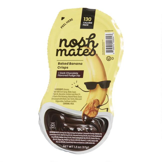Nosh Mates Banana Crisps and Dark Chocolate Dip