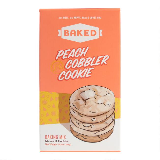 Baked Peach Cobbler Cookie Mix