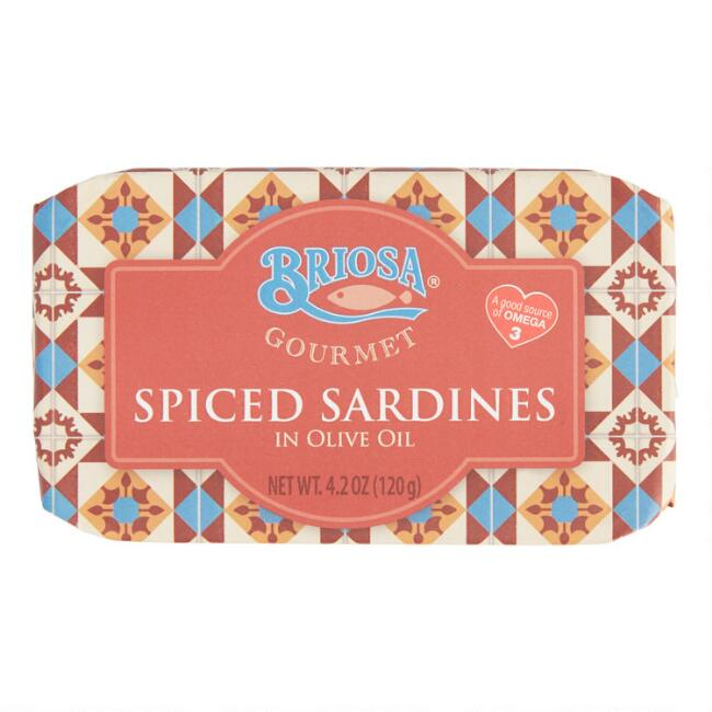 Briosa Spiced Sardines In Olive Oil Set of 4