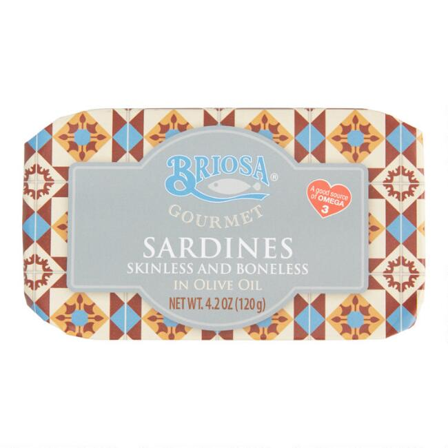 Briosa Skinless and Boneless Sardines in Olive Oil Set of 4