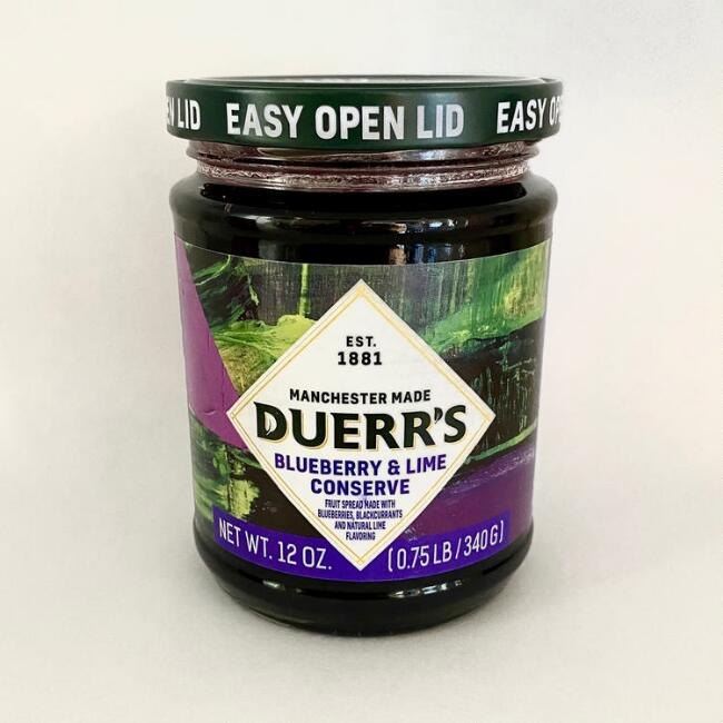 Duerr's Blueberry and Lime Conserve Set of 6