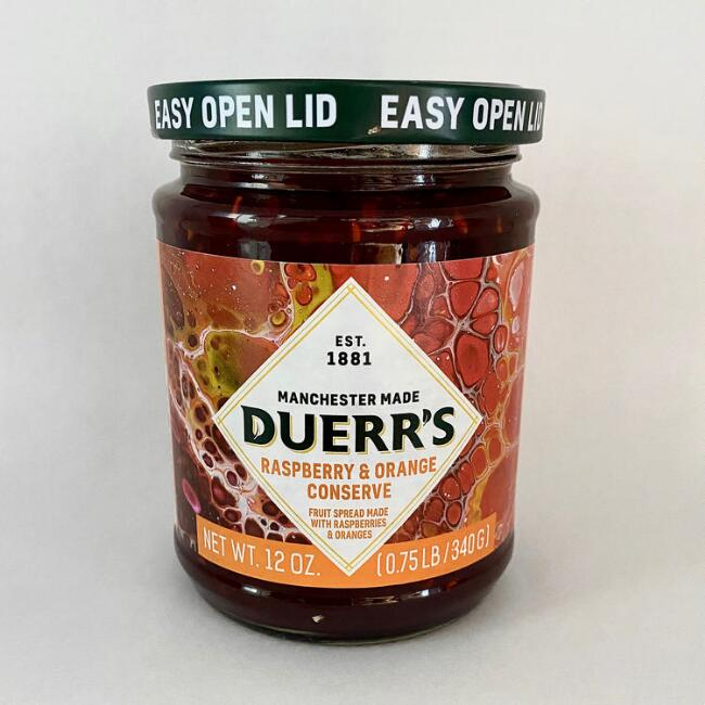 Duerr's Raspberry and Orange Conserve Set of 6