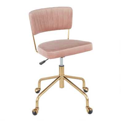 Velvet Mia Upholstered Office Chair