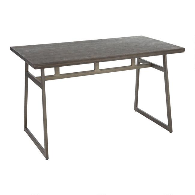 Wood and Metal Industrial Tristan Dining Table