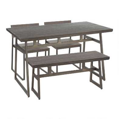 Wood and Metal Industrial Tristan Dining Collection