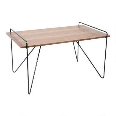 Wood and Metal Mid Century Grant Coffee Table
