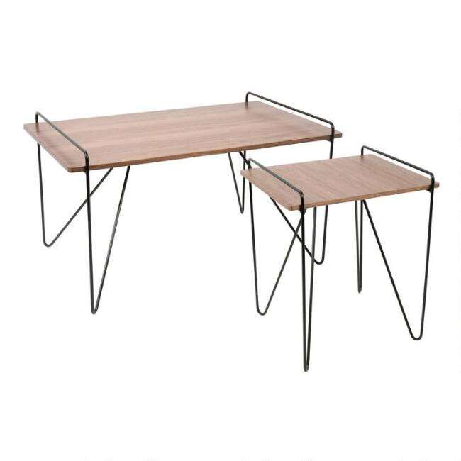 Wood and Metal Mid Century Grant Table Collection