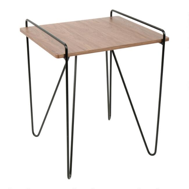 Wood and Metal Mid Century Grant End Table